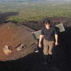 Glijden van de Cerro Negro vulkaan in Nicaragua