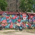 De Berlijnse muur in hedendaags Berlijn