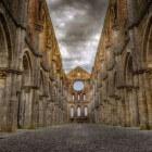 De abdij ruïne van San Galgano