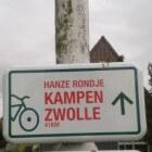 Hanzerondje Kampen Zwolle: fietsroute