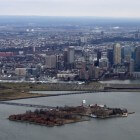 Ellis Island – eiland in de monding van de Hudson rivier