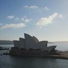 Sydney in Australië; stad met Operahouse en Harbour
