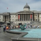 Trafalgar Square in Londen: plein met National Gallary
