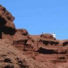 Vulkanisch Lanzarote: krater van El Golfo en Los Hervidores