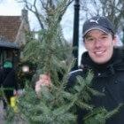 Kerstboomwerpen - Kampioenschap op Ameland