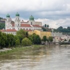 De driestromenstad Passau in Beieren (Duitsland)