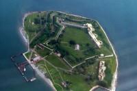 Georges Island vanuit de lucht / Bron: Wikipedia, radiofan