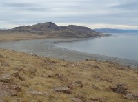 Great Salt Lake gezien vanaf Buffalo Point op Antelope Island / Bron: Leaflet / Wikimedia Commons