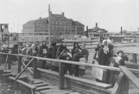 Ellis Island 1902 / Bron: Liberty of Congres
